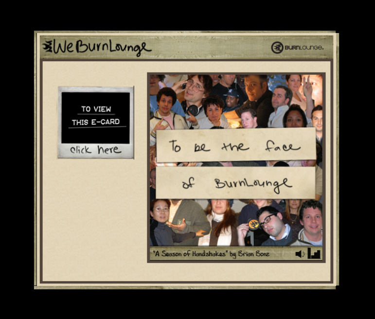BurnLounge Interactive E-card