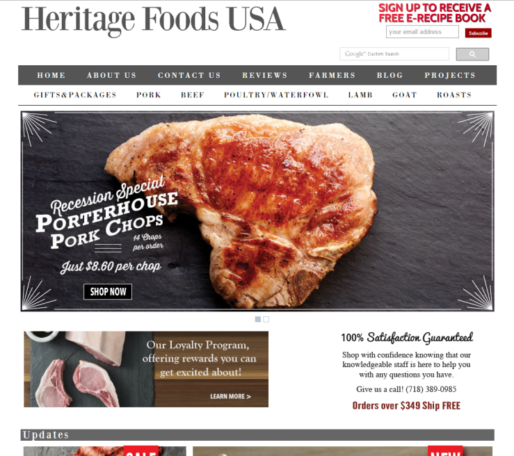 HeritageFoods<br>USA.com