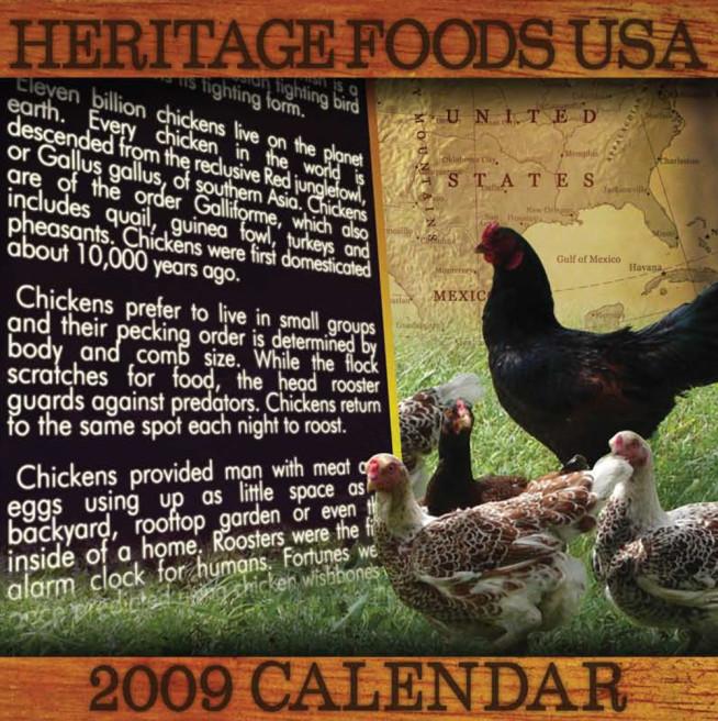 Heritage Foods USA 2009 Calendar