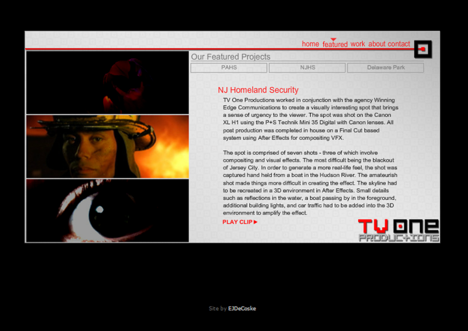 TV One Productions Website
